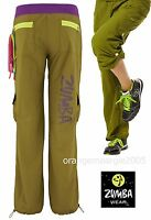 ZUMBA CARGO PANTS Hip Hop -Converts to Capris w Side Snaps on Leg SupeRARE S M L