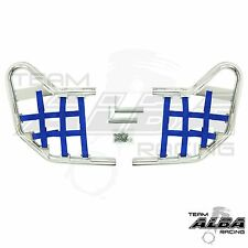 Yamaha Raptor 250 125  Nerf Bars Alba Racing  Silver bar Blue nets     192 T1 SL