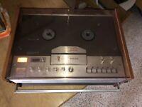 Vintage Antique PHILIPS Reel To Reel Tape Recorder Parts Repair Old School 4407