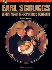 EARL SCRUGGS AND THE FIVE STRING BANJO (CD EDITION) BJO BOOK/CD, Various, Very G