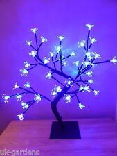 SALE Light Up 45cm Blue Christmas Blossom Tree Decoration - LED Flower Lights