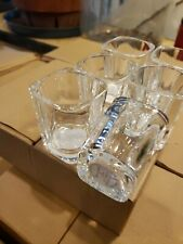 6 Dozen square Shot Glasses Clear Glass Barware  Bulk 2 oz