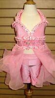 Custom Pageant Wear/fun fashion/pink 7/8 Slim 10 Girls EUC