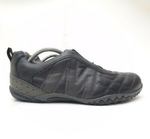 Merrell Racer Leather Trainers Black UK 9