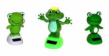5 x Solar Wackelfigur Solarfigur Tanzende Figur Lustiger Frosch Auto Büro Deko