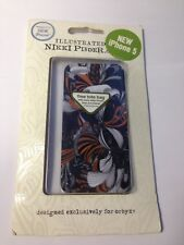 Brand New -Apple iPhone 5/5S -Brown & Blue -Clip On Back Premium Protective Case