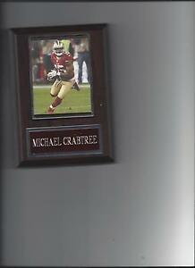 MICHAEL CRABTREE PLAQUE SAN FRANCISCO FORTY NINERS 49ers FOOTBALL NFL