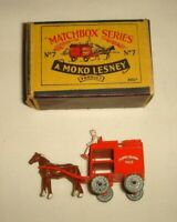 Matchbox MOKO Lesney No.7a MILK FLOAT Horse Drawn VGC with ORIGINAL Type B BOX