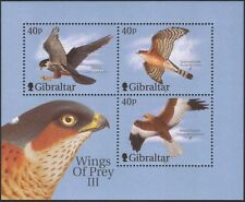 "Gibraltar 2001 ""Wings of Prey""/HARRIER/Hobby/RAPACES/oiseaux/nature 3 V M/S (b1601)"