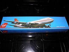 Display model aircraft. Boeing 747 airliner.Virgin Atlantic airways