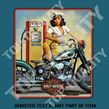 PIN UP GIRL PETROL BOWSER DECAL STICKER RAT ROD MANCAVE TOOLBOX STICKERS