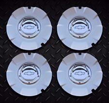 Chevy Silverado 1500 wheel center caps hubcaps 5243A SET OF 4 SILVER EDGE