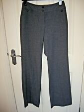 PHASE EIGHT GREY WOOL FEEL SMART TROUSERS UK 8 L34 TALL EXCELLENT CONDITION