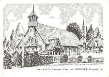 Art Postcard Church of St Thomas Charlton Andover Hampshire Don Vincent AS1