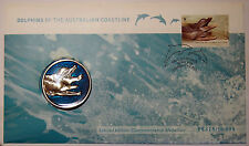 2009 Dolphins of the Australian Coastline 1st day cover with medallion