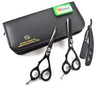 "Professional Barber Hairdressing Haircutting Scissors LEFT HAND 5.5"" with Razor"