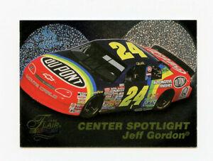 Jeff Gordon 1996 96 Flair Center Spotlight All Embossed Foil Insert Card Fleer