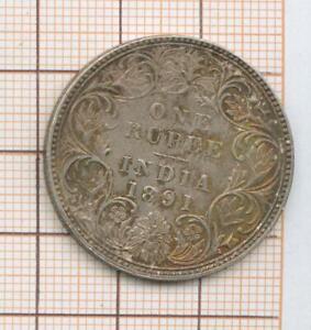 Indes Victoria Rupee 1891 qualité agréable