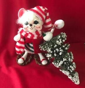 "Annalee Christmas Mouse / 2006 / ""Bringing the Christmas Tree"" //EUC//"