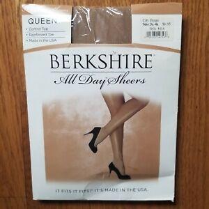 """Berkshire Sheers Control Top Pantyhose In City Beige Queen  3X-4X  Up To  5' 11"""""""