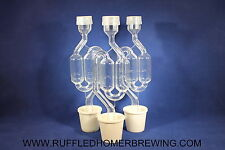 3 Double Bubble Airlocks 3 Stoppers,Wine & Beer ,Brewing,Homebrew