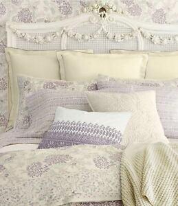 One Ralph Lauren Home ALDAN Square Pillow Cream 20 x 20 Alessandra Collection
