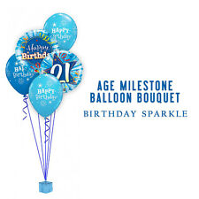Party Supplies Decoration Birthday 21st Shinning Star Blue Foil Balloons