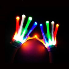 Glow Like Fireworks - LED Finger Gloves Electro Rave Dance Party Gift 7 Mode USA
