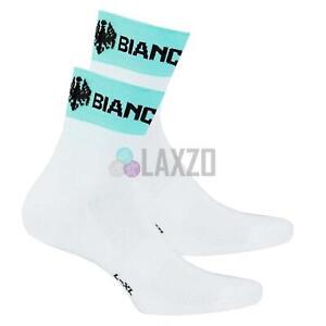 Bianchi Milano Asfalto Bicycle Bike Cycling Socks XXL 46-48 White/Celeste