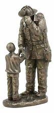 "8.5"" Child Thanking Fireman Statue Fire Fighter Figure Figurine Hero"