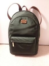 579ffd047568 NWT MICHAEL KORS JET SET ITEM LARGE MOSS GREEN NYLON BACKPACK HANDBAG