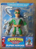 Marvel Spiderman & Friends Super Heroes TORNADO SPIN DOC OCK Figure Toy