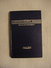 1989 HB Book, CLINTON COUNTY, INDIANA by JOAN C. BOHM; SIGNED, FRANKFORT