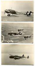 NEDERLAND LUCHTVAART AVIATION   3 x FOTO  PPC  PLANES FOKKER  VF   @2