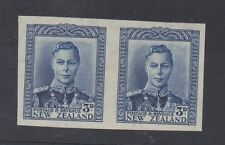 New Zealand. 1941. SG609. 3d blue. Imperforate pair, very fine unmounted mint.
