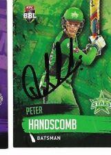 Peter Handsomb (Melbourne Stars)   signed L/Edition Cricket Card +COA