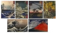 """JAPANESE ART PRINTS (6) Assorted Prints Suitable for Framing NEW 11""""X14"""""""