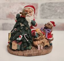 Polyresin Santa With Hinged Tree Boxed Christmas Decoration Ornament