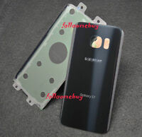 A+ Rear Battery Glass Back Door Cover For Samsung Galaxy S7 G930T T-Mobile Black