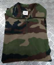 Genuine French Military Issue Army Camouflage Micro Fleece Top Mkii 120cm