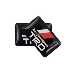 4 adesivi stemma logo volante porta portiera interni auto Toyota TRD 3D Racing