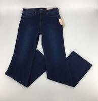 NYDJ Barbara Stretch Blue Lift & Tuck Bootcut Pants Jeans sz 8XL (w31/i35/r10)