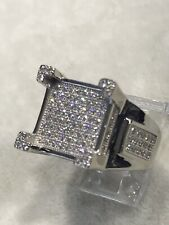 925 Genuine Sterling Silver Men's PINKY RING CZ STONE DESIGN