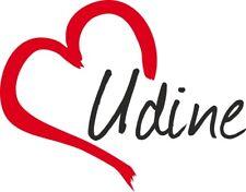 """Adesivo per auto """" UDINE """" (Città) cuore Sticker ca. 9x12 cm taglio contorno"""