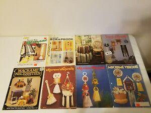 Lot of Vintage Macrame Books Home Decor Decorating Towel Hanger Hanging Patterns