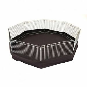 NEW! 8 Panel Indoor Outdoor Small Animal Play Pen Run with Ground Sheet