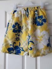 Boys Yellow Floral Swim Shorts Size XL