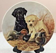 Labrador Retrievers A PERFECT SET puppies Plate Yellow & Black Labs Lynn Kaatz