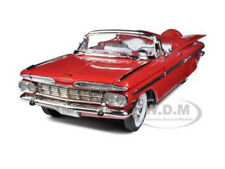 1959 CHEVROLET IMPALA CONVERTIBLE RED 1/18 DIECAST CAR BY ROAD SIGNATURE 92118