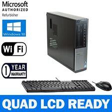 Dell Multi LCD Ready Desktop Computer PC Quad Core i5 8GB 500GB Windows 10 WiFi